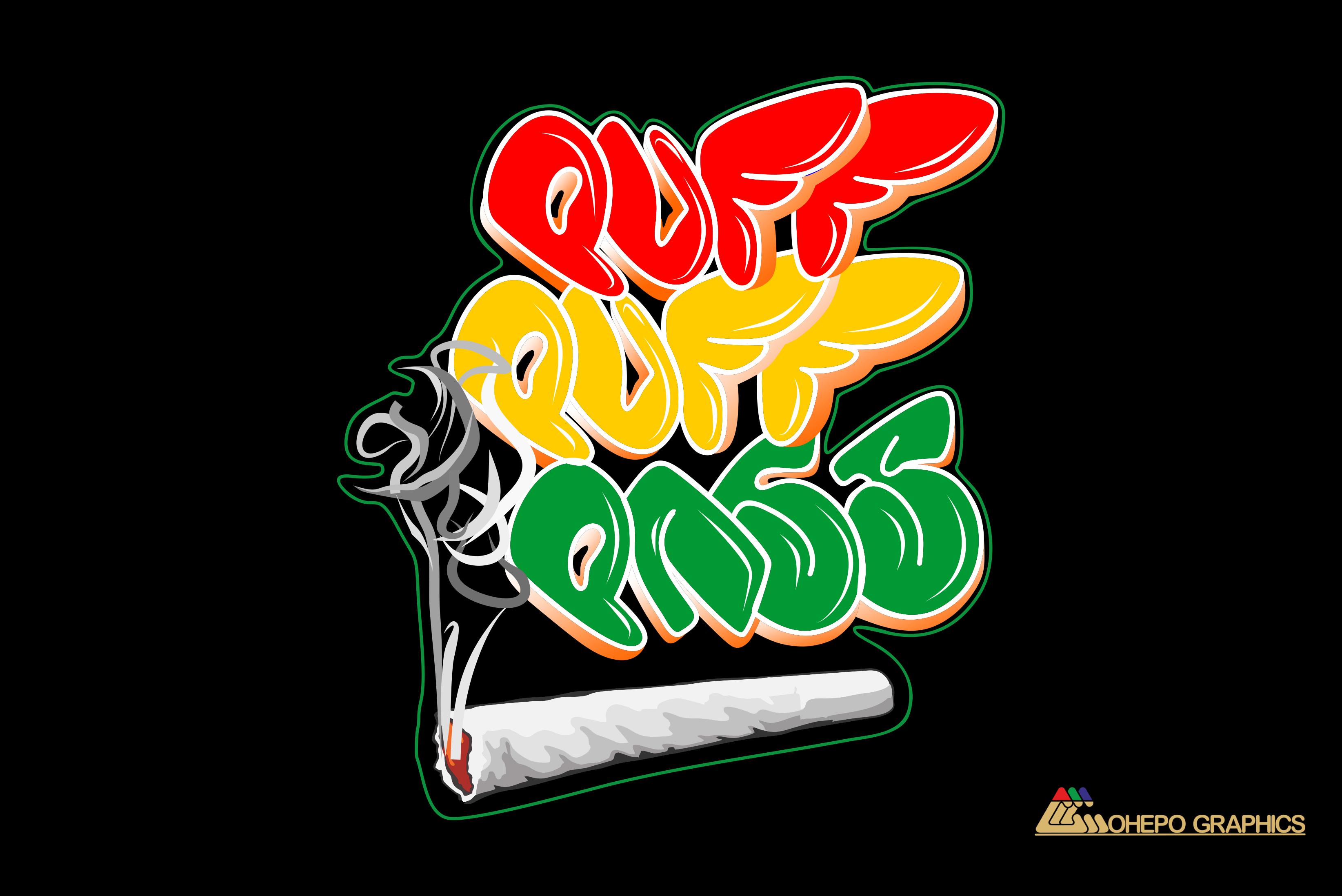 Puff Puff Pass Graffiti Digital Art Design Warm Greetings To You All