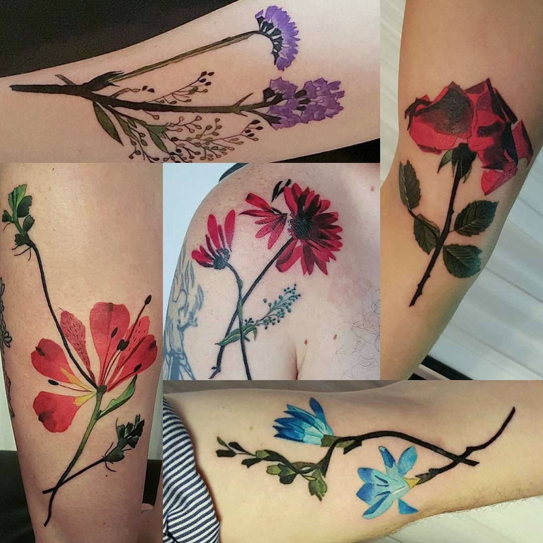 Dorothy tattoos philly botanical tattoo floral tattoo