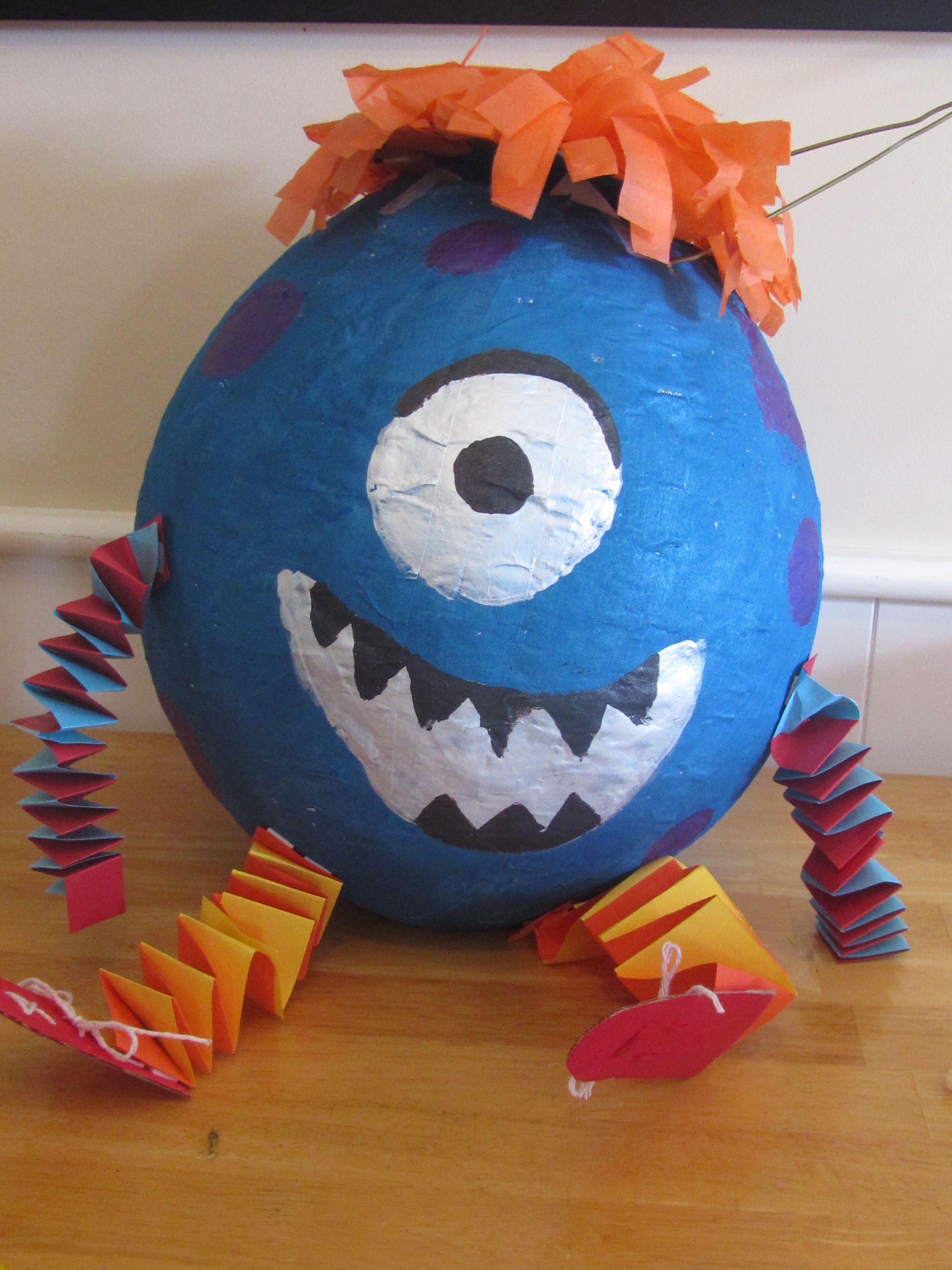 Monster pinata hmmm maybe z will have this as a project for Paper mache craft ideas