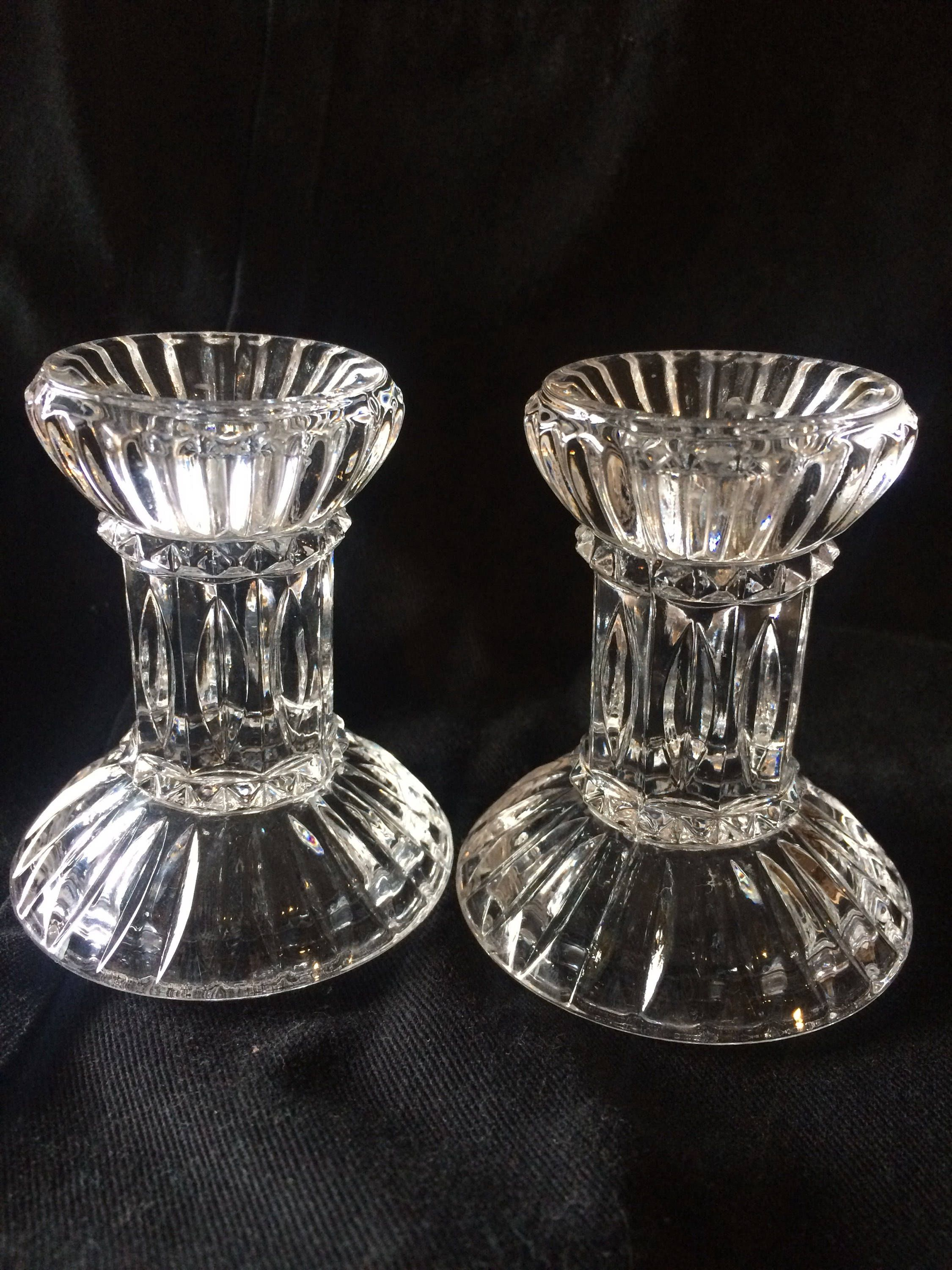 Vintage Lead Crystal Candle Holders Single Taper By Some1likeyou On Etsy Crystal Candle Holder Candle Holders Vintage Glass Candle Holders