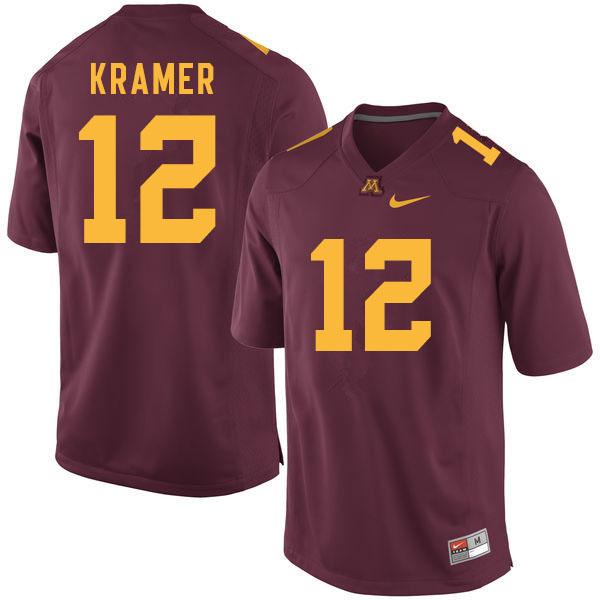 Men 12 Cole Kramer Minnesota Golden Gophers College Football Jerseys Sale Maroon In 2020 Football Jerseys Minnesota Golden Gophers Jersey