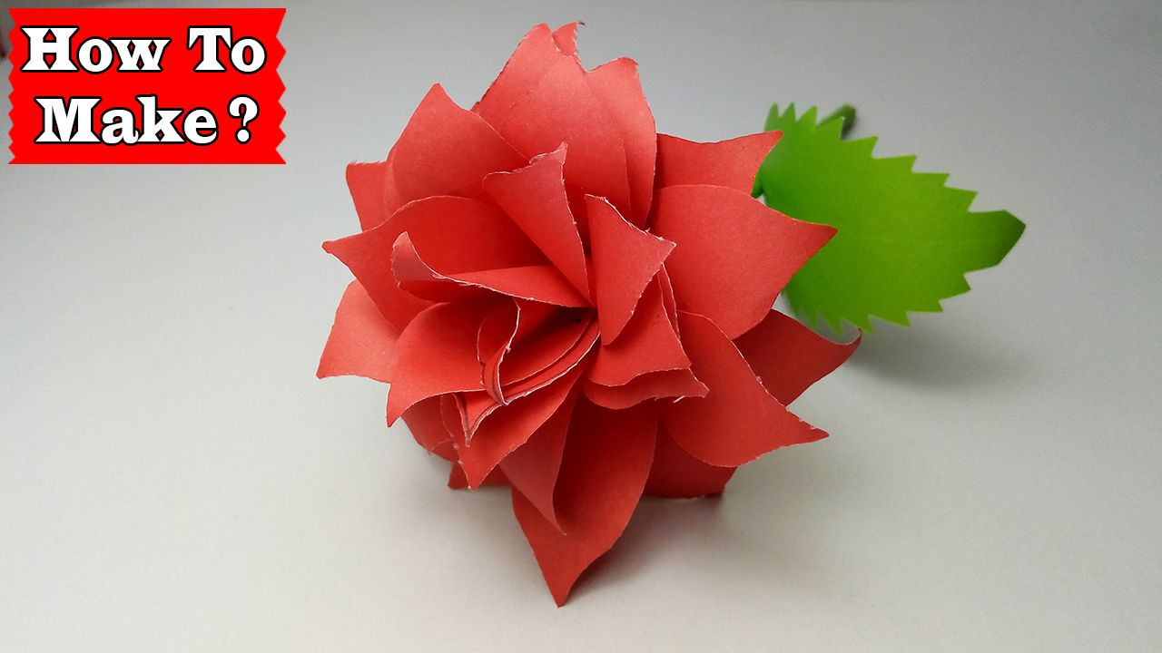 Paper Craft How To Make A Rose Out Of Paper Easy Step By Step Lovely Easy Crafts Crafts Paper Crafts Origami Easy