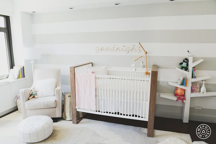 Nursery Features An Accent Wall