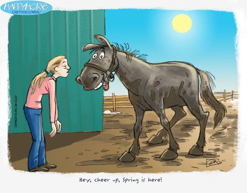 Spring Is Sprung Poem Posts 7639 Horse Cartoon Horses