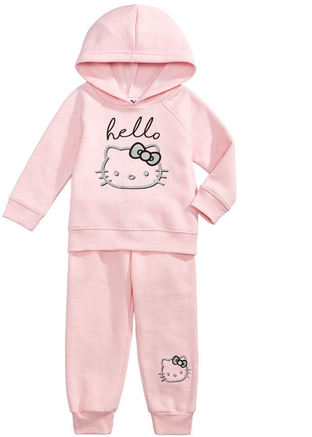 4bc3614cb Hello Kitty 2-Pc. Hoodie & Jogger Pants Set, Baby Girls (0-24 months ...