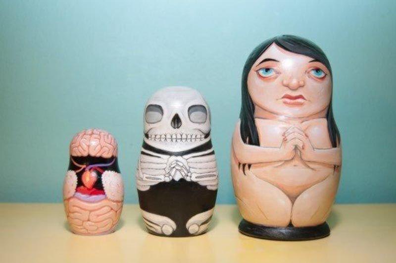 Anatomical Nesting Dolls - Skullspiration.com - skull designs, art, fashion and more