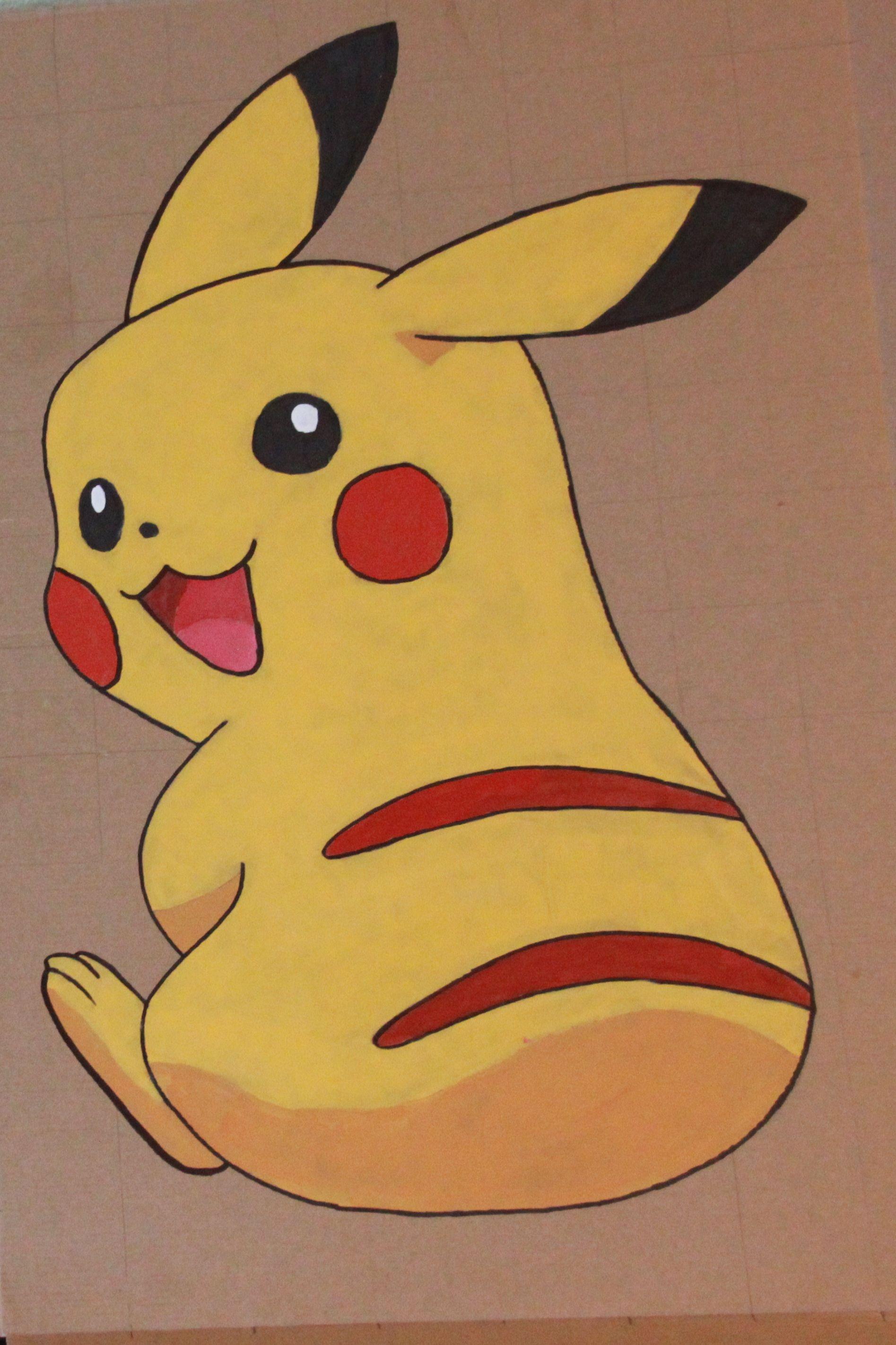 Pin The Tail On Pikachu Game Pokemon Birthday Pinterest