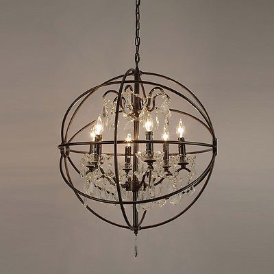The games factory 2 wrought iron chandeliers and iron contemporary modern wrought iron crystal round hanging chandelier pendant aloadofball Image collections