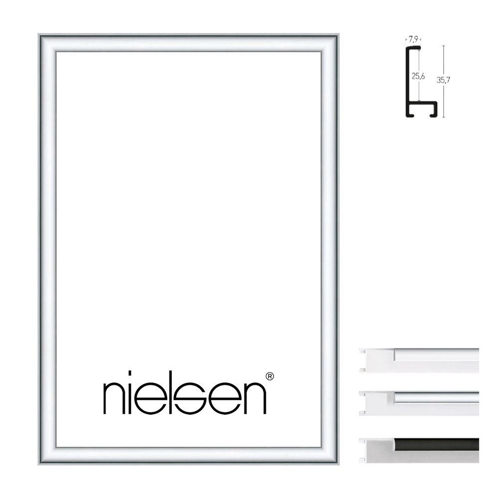 Nielsen Alurahmen Profil 22 50x60 Silber matt