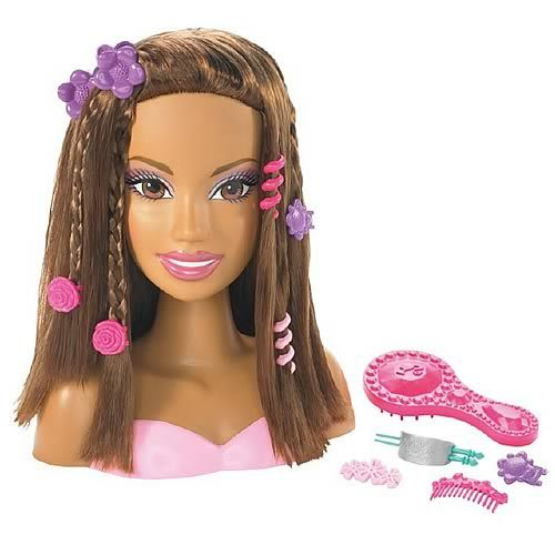 Barbie Doll Hair Styling Head African American Coming In May 2010