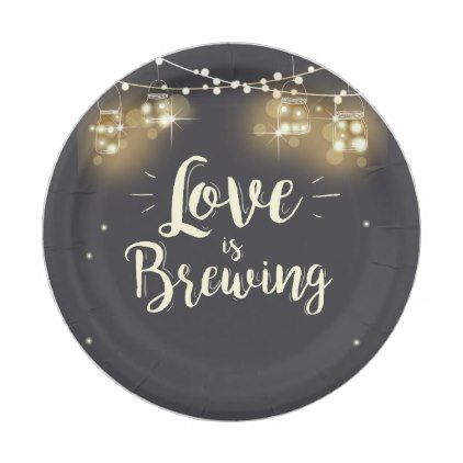 Love is brewing Paper Plates Wedding rehearsal bbq - paper gifts presents gift idea customize  sc 1 st  Pinterest & Love is brewing Paper Plates Wedding rehearsal bbq | Weddings ...