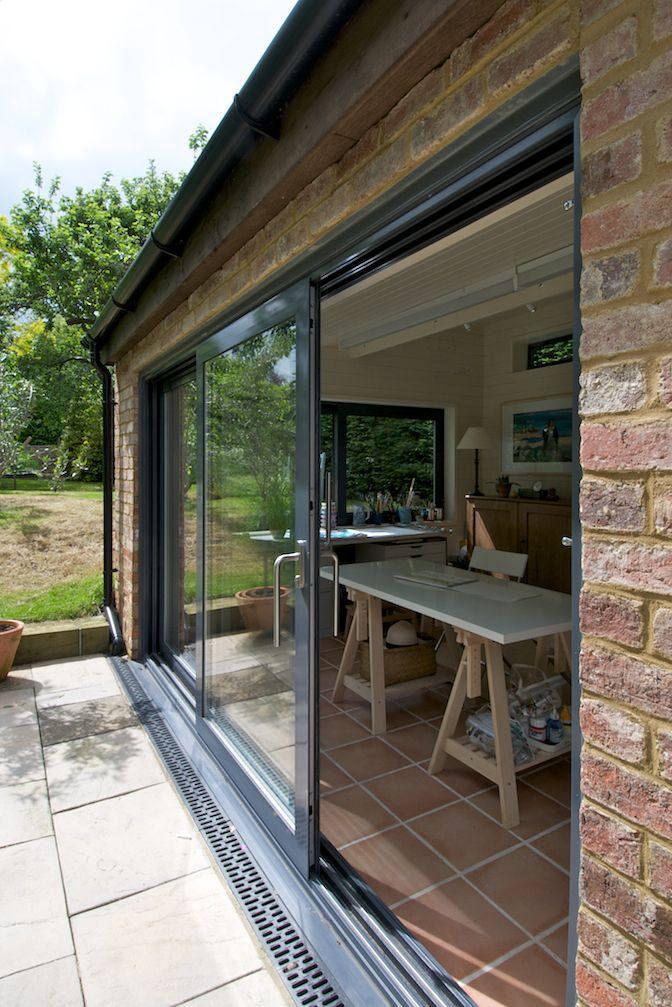 Large Aluminium Sliding Doors In Grey Bifold Doors