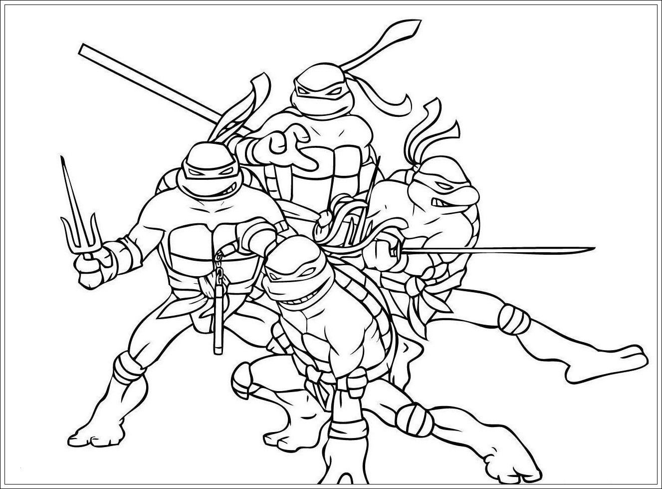 Ausmalbilder Ninja Turtles für paint  Superhelden malvorlagen