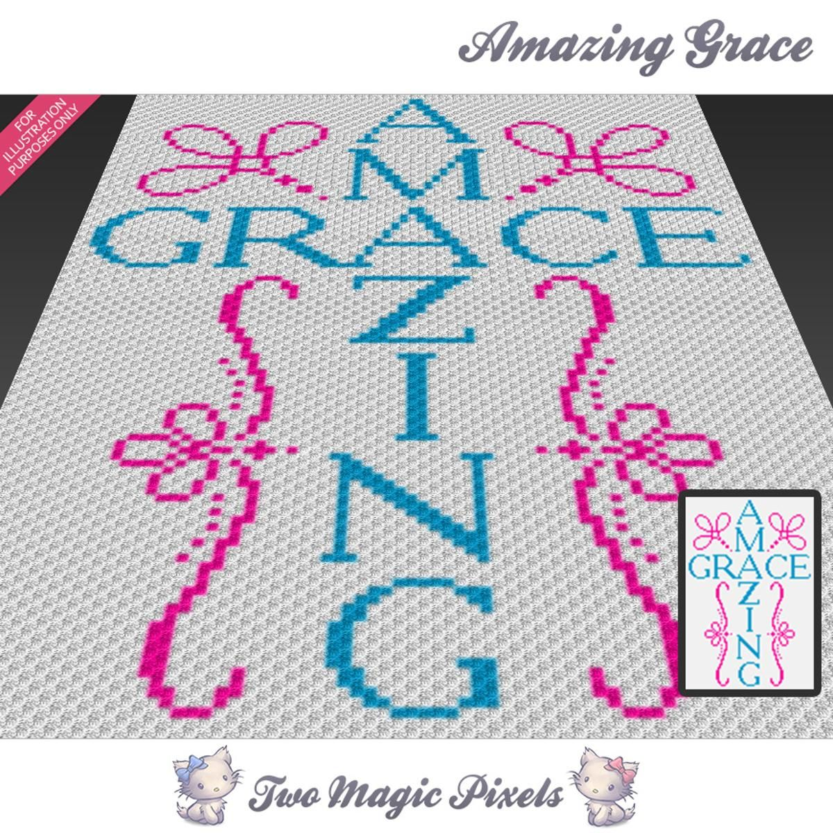 Amazing Grace C2C Crochet Graph