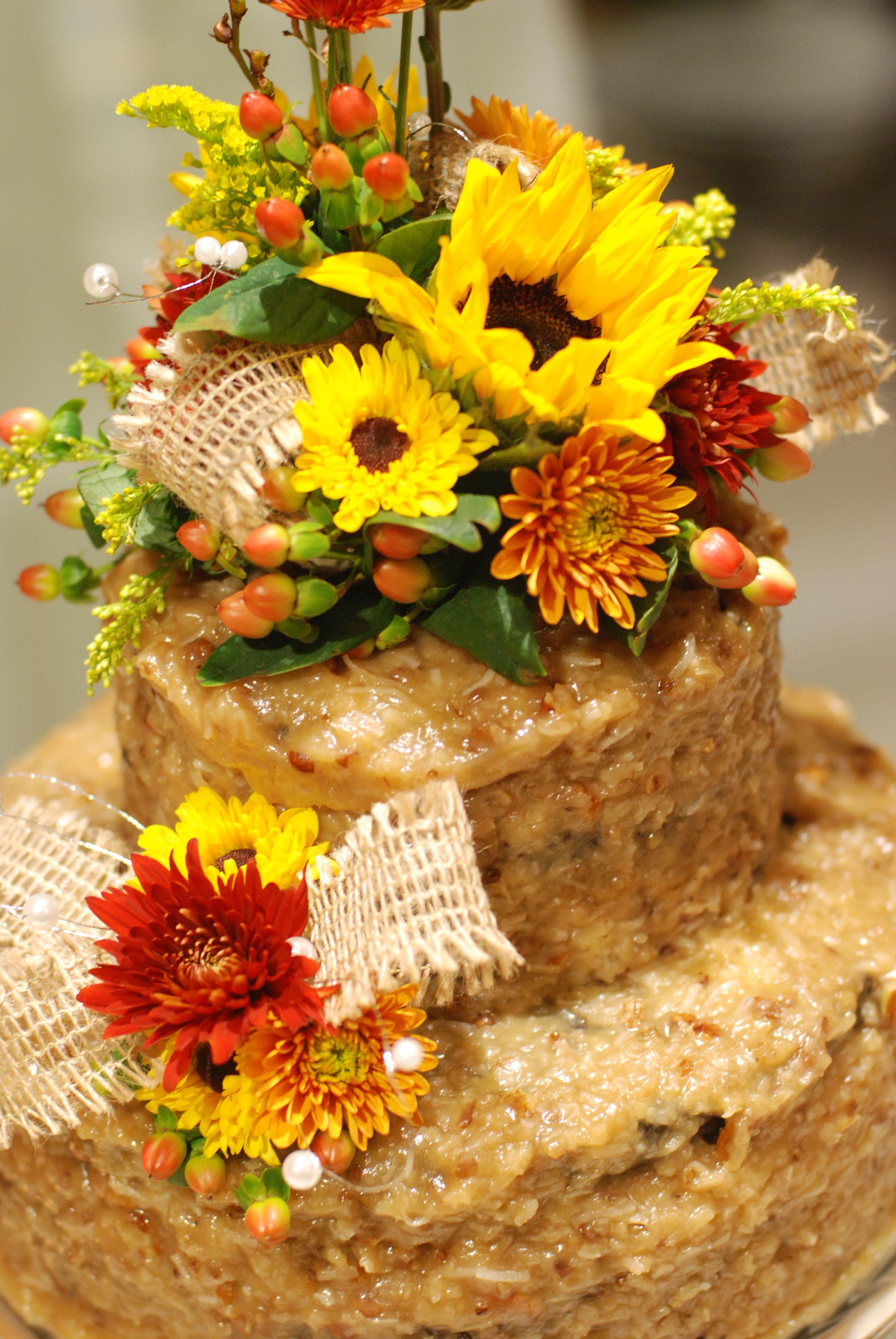 German Chocolate Wedding Cake | Rustic Wedding | Pinterest | Wedding ...