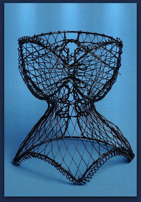Wire Dress form Ladies Corset / Jewelry by MoreFriendsAndCo | Bridal ...