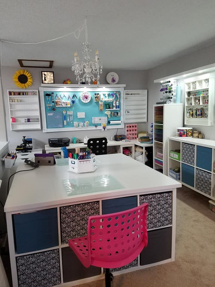 DIY Craft Table with Storage - My IKEA Hack #craftroomideas