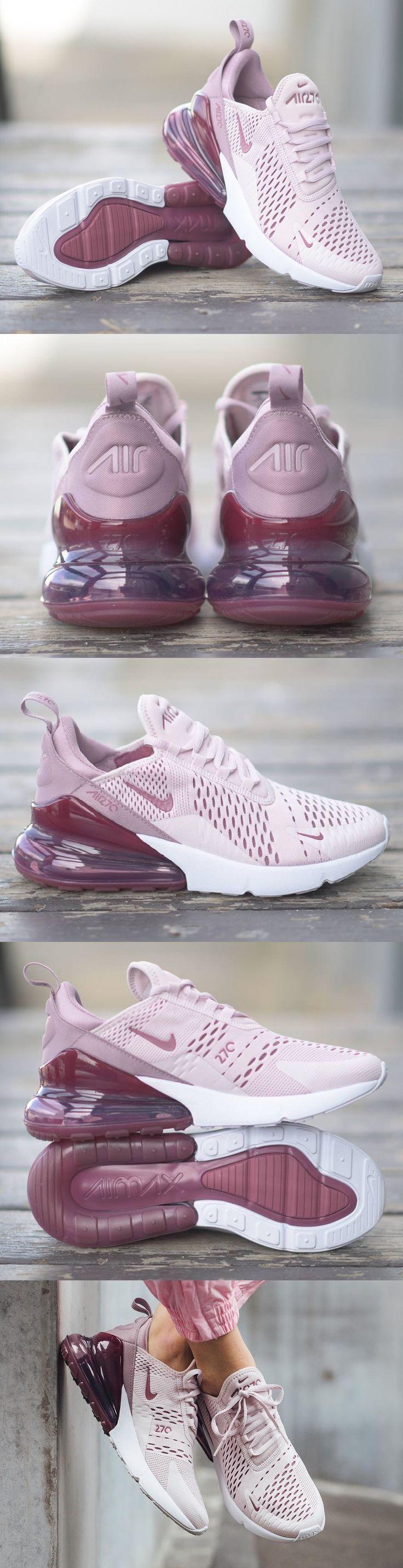 Nike #Air #Max 270 #women Rose pâle/Rose élémentaire/Blanc/Vin ...