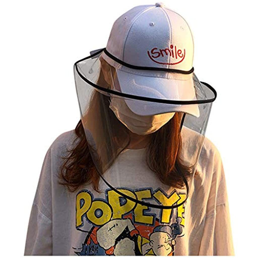 Bazhahei Transparente Schutzhut Cap Hat Schutzhutabdeckung Outdoor Gesichtsschutz Visier Hut Antibeschlag Fashion Face Mask Face Shield Masks Punk Rock Outfits