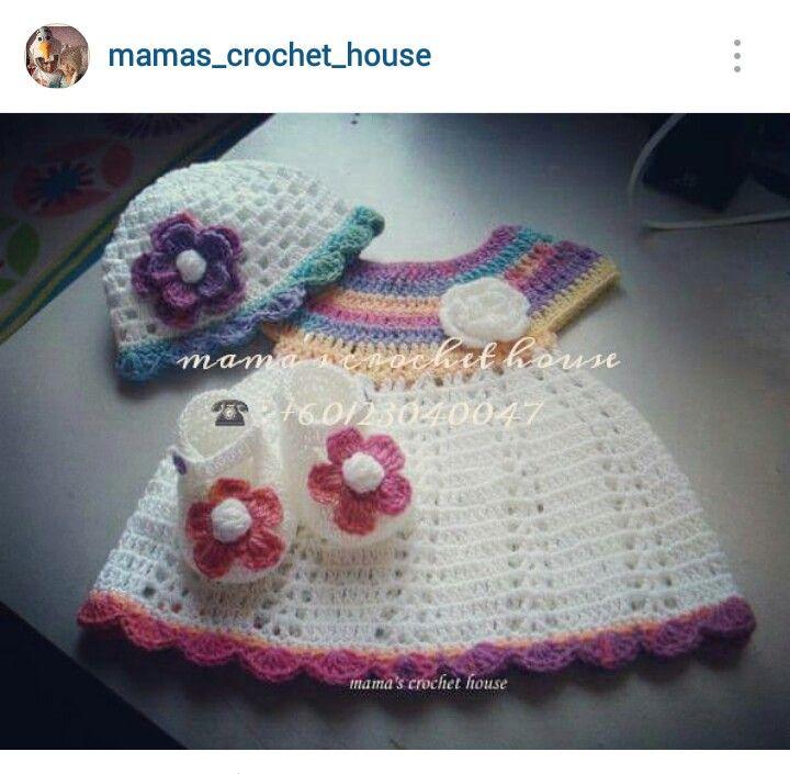 Instagram - @mamas_crochet_house ~ crochet girl\'s dress   Crochet ...