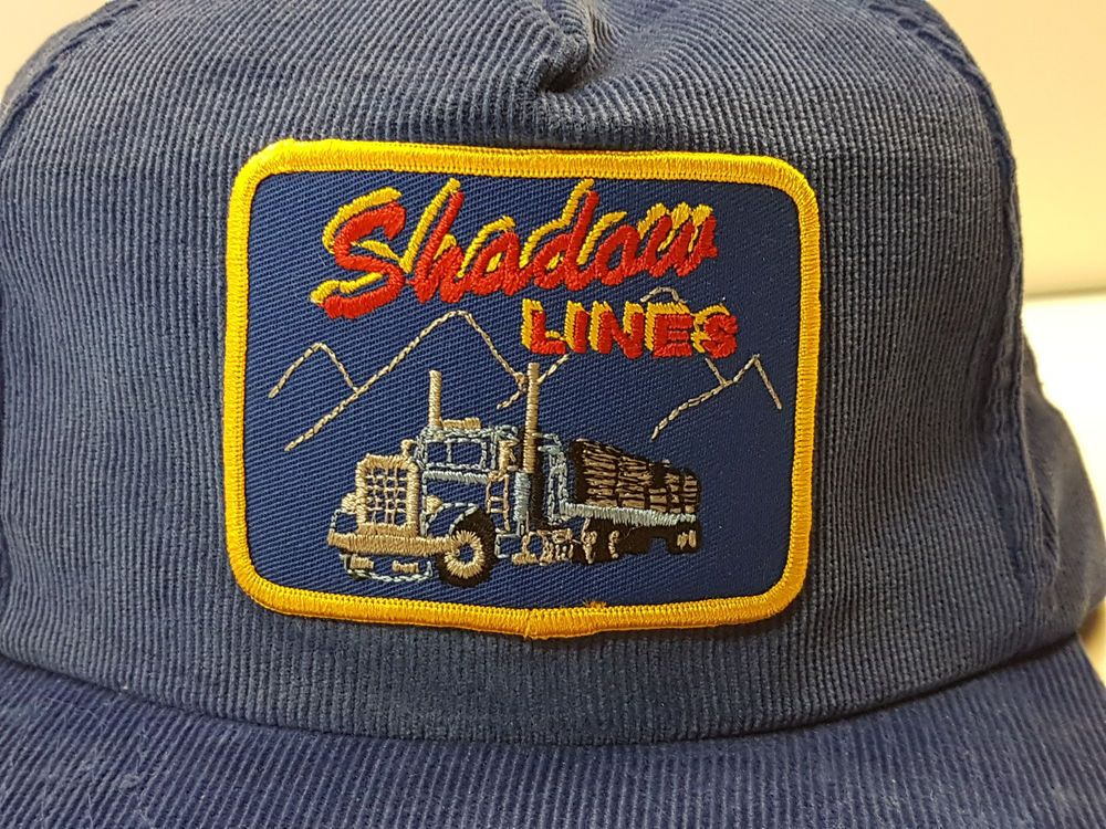 Vintage Embroidered Patch Trucker Hat Big Rig Trucking Corduroy Snapback  1980s  KBrand  TruckerHat d4b0079929c2