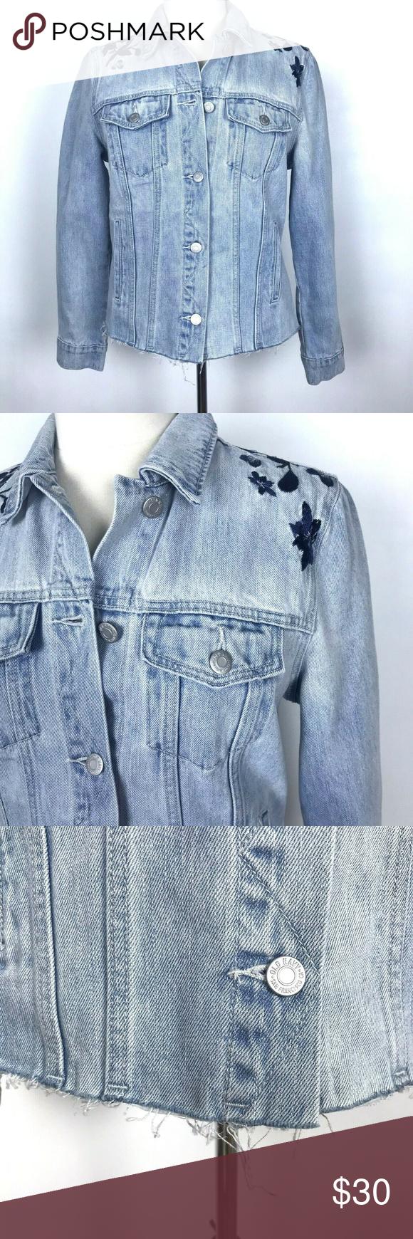 Embroidered Denim Jean Jacket Medium Raw Hem Embroidered Denim Jackets Embroidered Denim Jacket [ 1740 x 580 Pixel ]