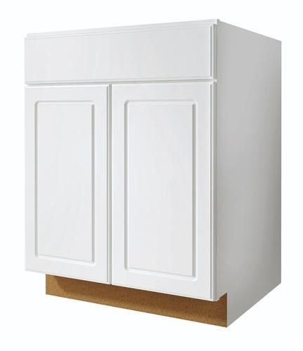 Value Choice 27 Ontario White Standard 2 Door 1 Drawer Base Cabinet
