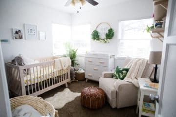 Luxe Babykamer Ideen : Modern boho nursery with a punch of tropics nursery ideas