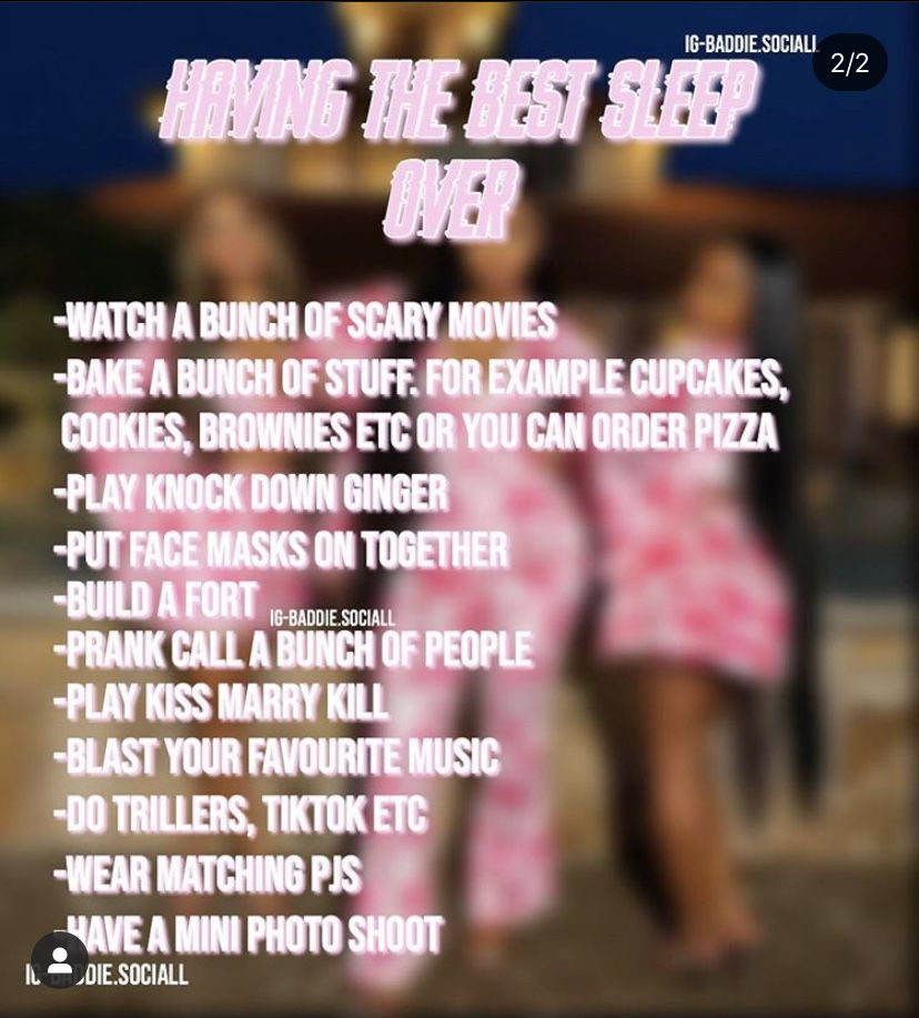 Pin by Metaa on Lifestyle in 2020 Baddie tips, Sleepover