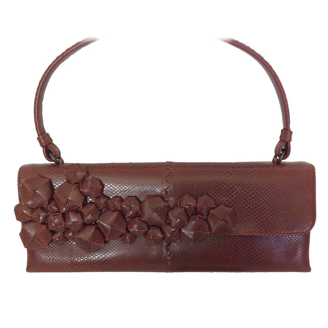 2a46d3af2e6 Cinnamon lizard Bottega Veneta handbag in 2018