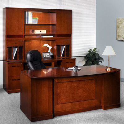 Mayline Sorrento Series 5-Piece Standard Desk Office Suite Finish: Espresso Veneer