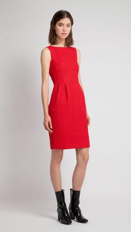 Vestido piqué rojo