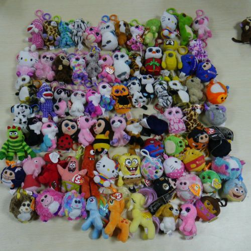77c40db8286 Lots-10pcs-set-Ty-beanies-boos-ornament-Plush-key-clip-on-Random-PLEASE-READ