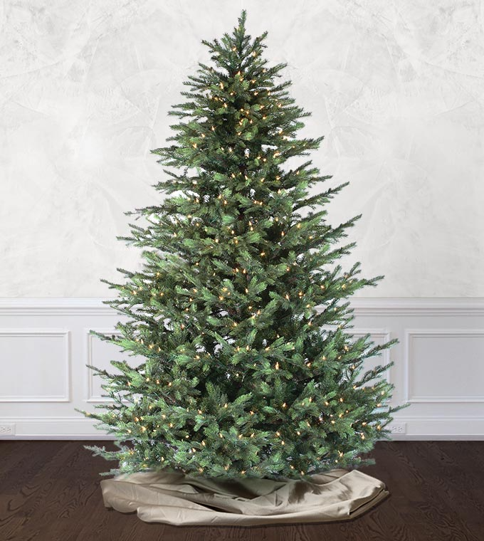 The Victorian Fir Is My First Artificial Tree And It Is Perfection This Tree Looked Artificial Christmas Tree Christmas Tree Clear Lights Christmas Tree Shop