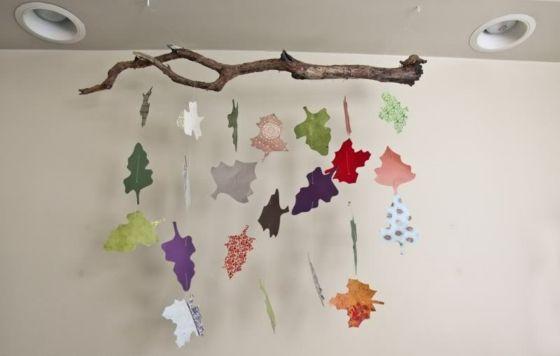 Ideee Basteln Blätter Aus Papier Aufgehängt