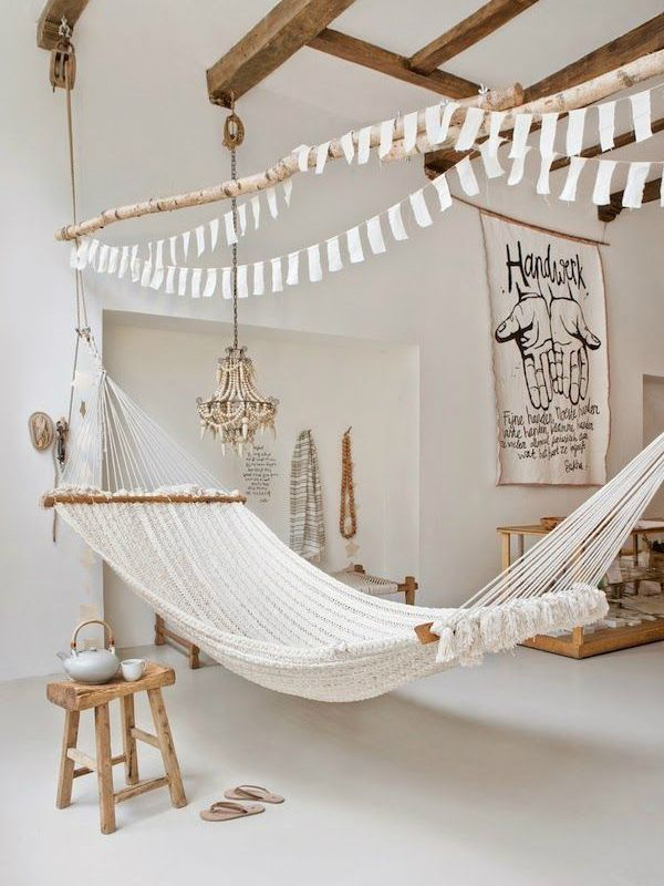 You Look Smashing  Ambientes  Pinterest  Bohemian Shabby And Extraordinary Living Room Hammock Decorating Design