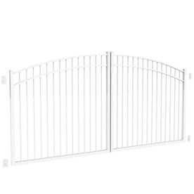 Freedom 6 05 Ft White Aluminum Driveway Gate Lowes Com Aluminum Driveway Gates Driveway Gate Driveway