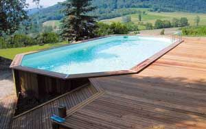 Piscine bois semi enterr e conseil astuces montage - Amenagement piscine semi enterree ...