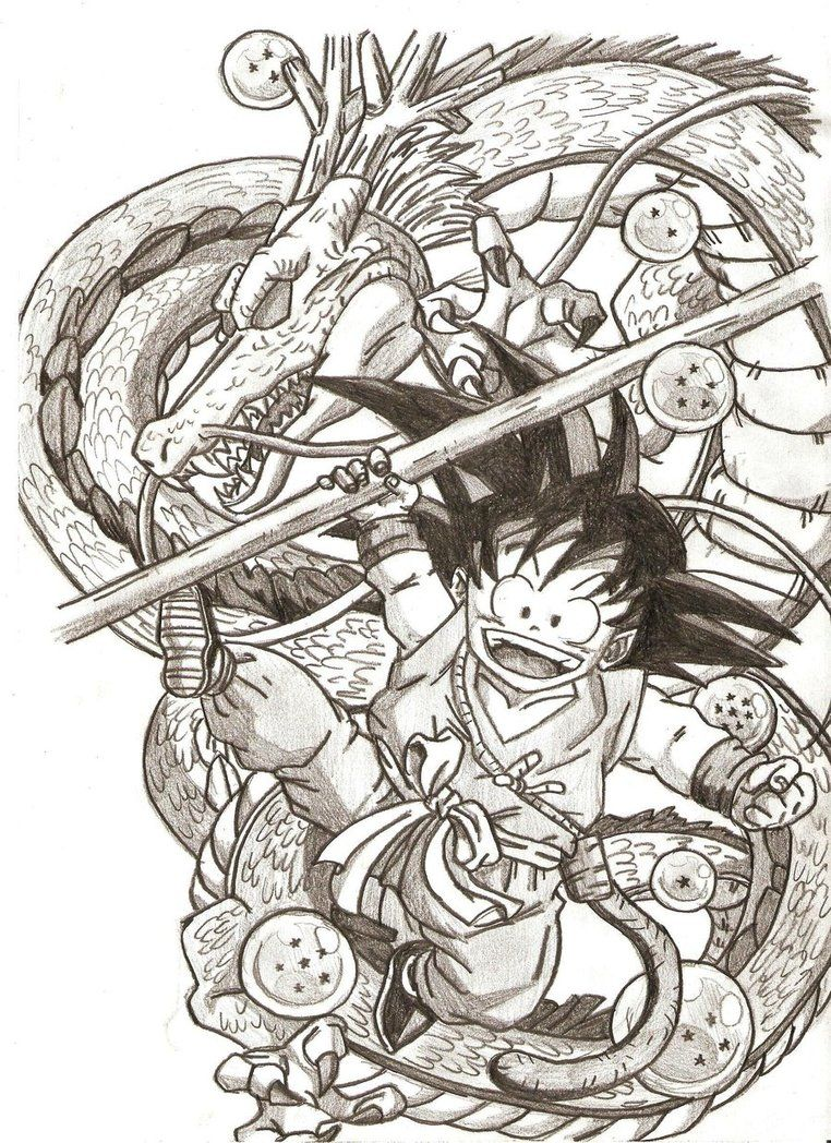 Goku E Shen Long Dragon Ball Painting Dragon Ball Artwork Dragon Ball Tattoo