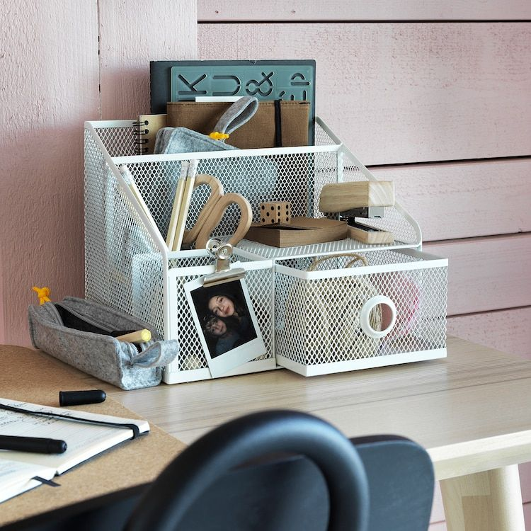 Dronjons Desk Organiser Ikea Ireland In 2020 Bedroom Desk Organization Small Desk Organization Desk Organization Ikea