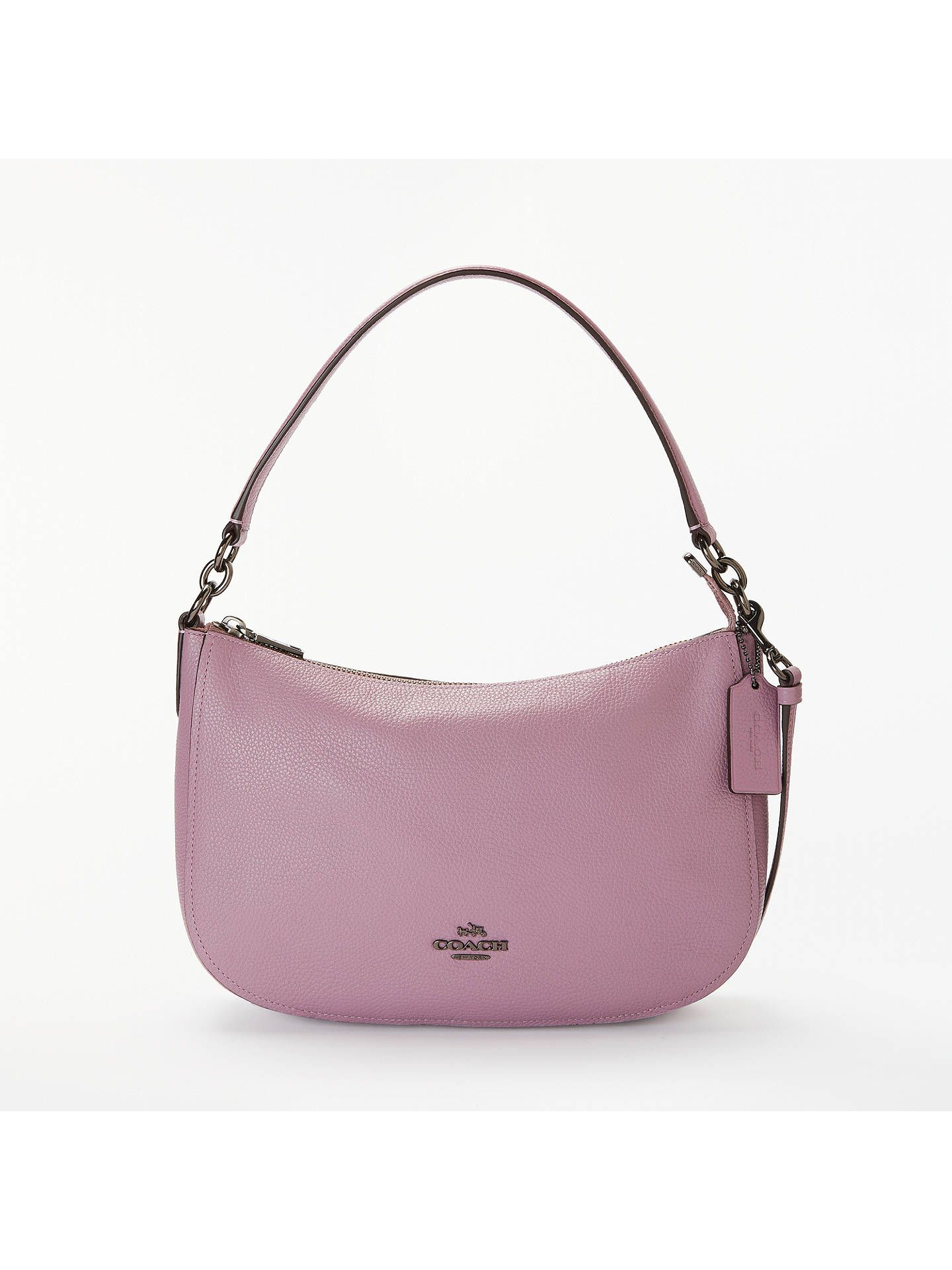 af309ad23461 BuyCoach Chelsea Polished Pebble Leather Cross Body Bag, Jasmine Online at  johnlewis.com