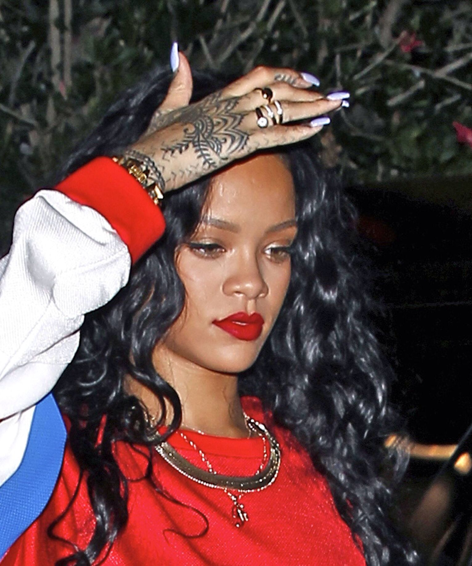 Rihanna Lavender Acrylic Nails