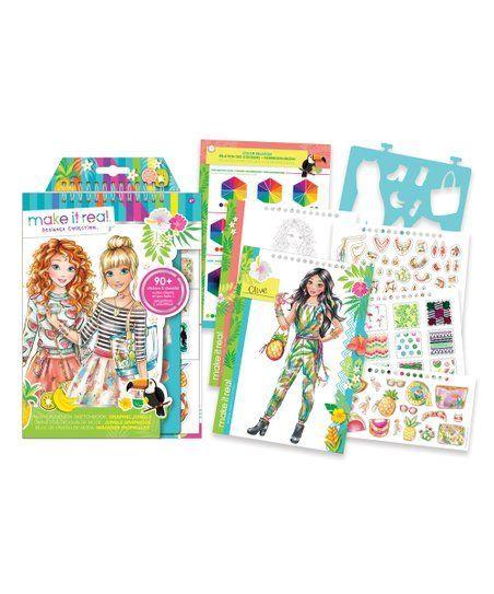 Make It Real Graphic Jungle Fashion Design Sketchbook Set  Zulily  Make It Real Graphic Jungle Fashion Design Sketchbook Set  Zulily