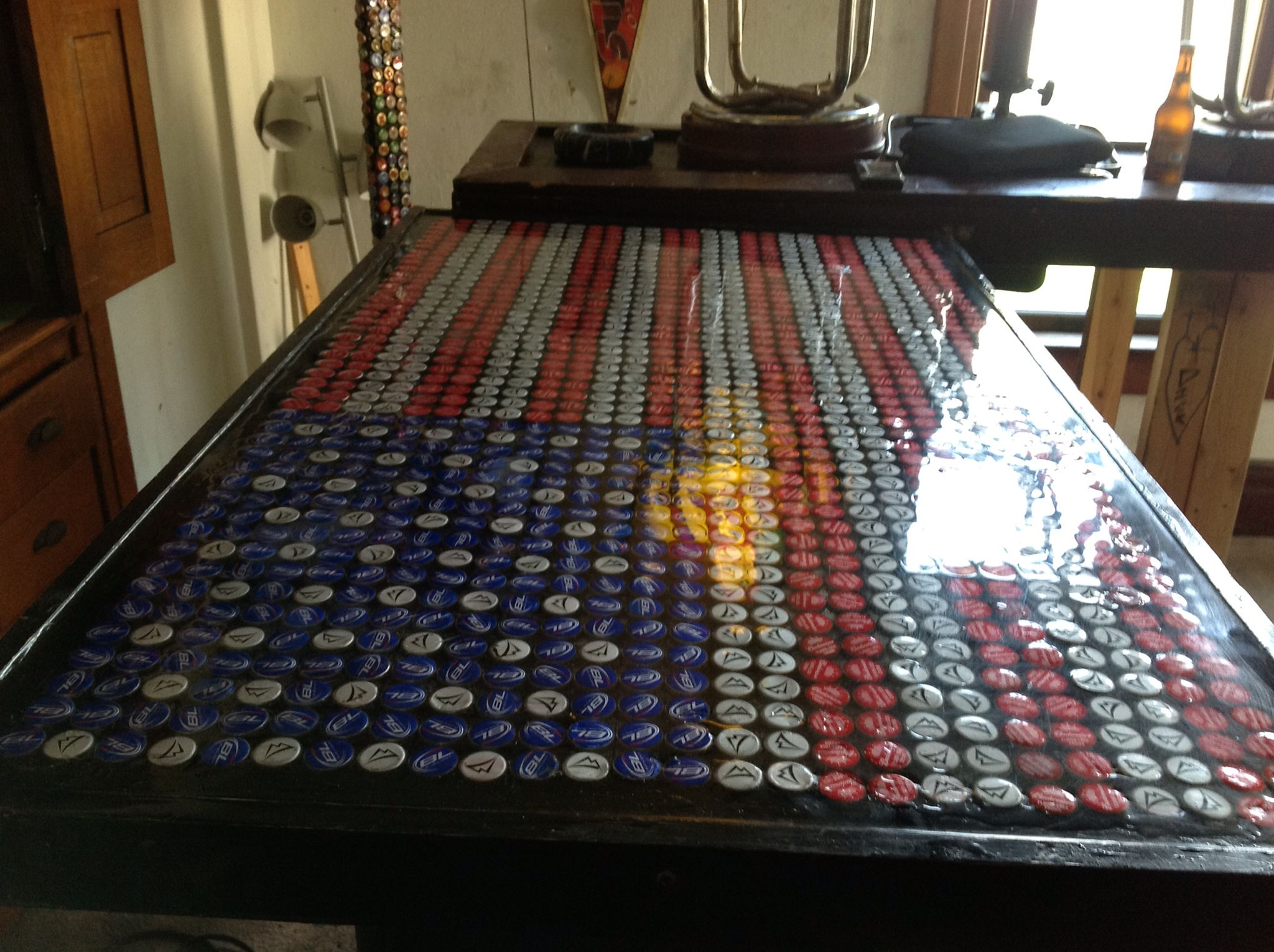 Pin by Timothy Doyle on Bar top epoxy bottle caps | Bar ...