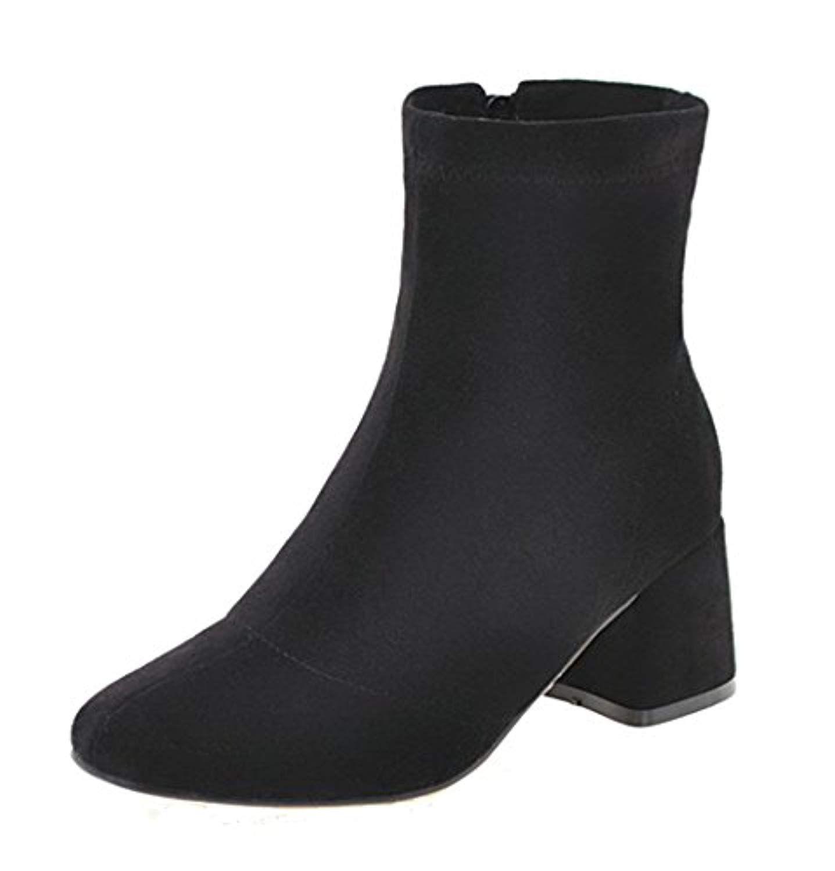 Fermeture Ageemi Shoes Femme D'orteil Bottes Talon Zip À Correct daxtfrwxq