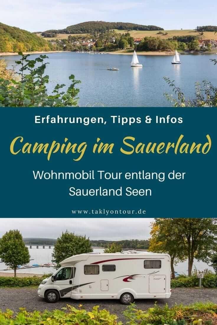 Wohnmobil-Tour entlang der Sauerland-Seen