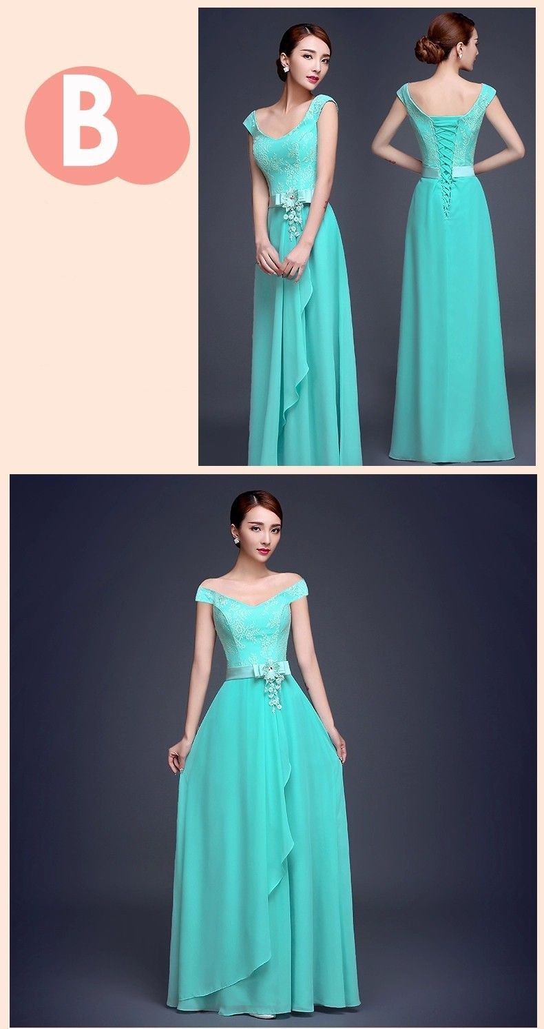 Aliexpress buy vestido de festa turquoise bridesmaid dress aliexpress buy vestido de festa turquoise bridesmaid dress chiffon two tone turquoise blue ombrellifo Image collections