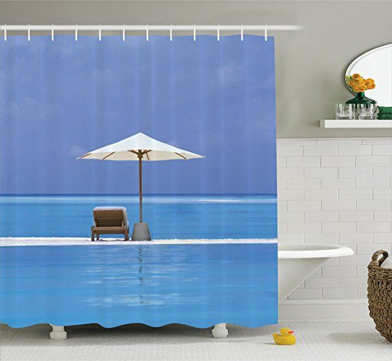 Amazon Com Unique Shower Curtain Ocean Decor By Ambesonne Relax