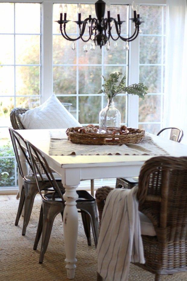 Diy Chalk Painted Dining Table Zevy Joy  Chalk Paint Table Interesting Chalk Paint Dining Room Chairs Decorating Inspiration