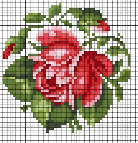 Вышивка цветов крестом схемы: бесплатно старинные 21